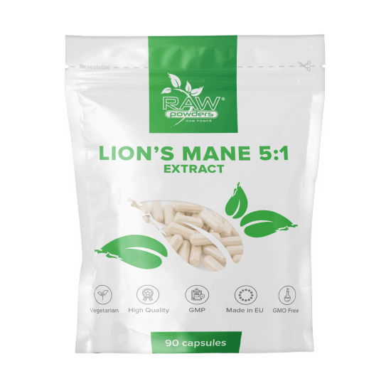 Lion's Mane 5:1 Extract 500 mg. 90 Capsules