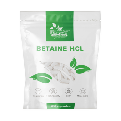 Betaine HCL 650 mg. 120 Capsules