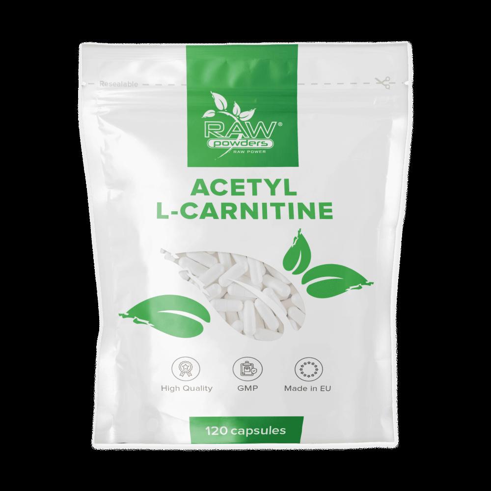 Acetyl L-carnitine (ALC carnitine) Capsules 120 Gelatin Capsules x 500 mg